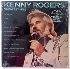 Kenny Rogers - Greatest Hits LP Vinyl Record Album, Liberty - LOO 1072, Country, Country Rock, 1980, Original Pressing