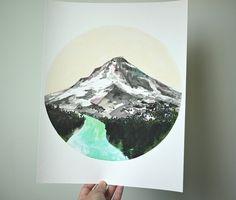 Mountain, art print 11 x 14. $40.00, via Etsy.