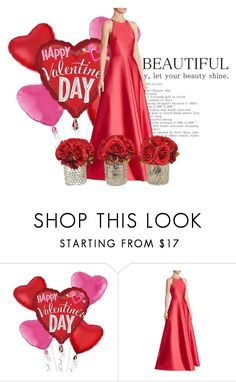"""""""valentine's day"""" by lilyismyname-13 ❤ liked on Polyvore featuring ML Monique Lhuillier, The French Bee, love and valentinesday"""
