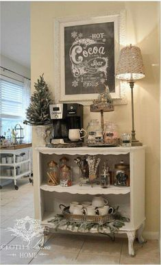 I'd love to make a space like this for my tea!!