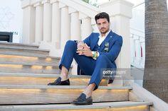 News Photo : Fashion Blogger Mariano Di Vaio is photographed...