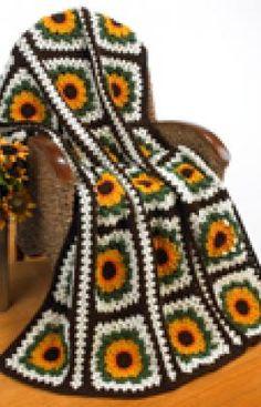 Crochet Sunflower Afghan Crochet Pattern | Red Heart