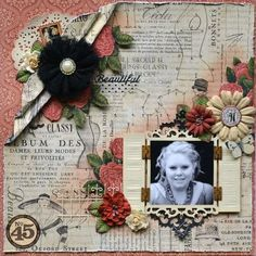 Beautiful Couture layout by Karen! Love this! #graphic45 #layouts