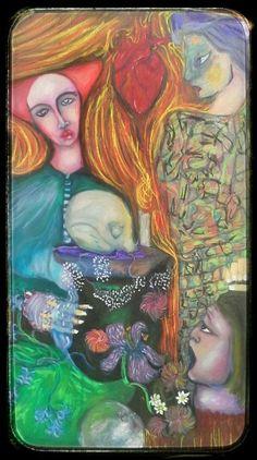 """""""St.John Babtist's demons-Salome"""" , """"Demony Świętego Jana Chrzciciela-Salome"""" olej na płótnie połączony  suchymi pastelami,  Oil on canvas and soft pastels. Format 90x50 .#art,#artfrompoland Pierwszy z wielu obrazów, teraz wykończyć następne zaczęte prace i szukać wyjątkowego miejsca na wernisaż :) .Pozdrawiam Marcin ☺"""