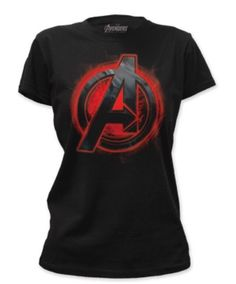 Marvel Women's Black Widow Assemble Avengers Age of Ultron T-shirt - Size Large