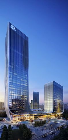World of Architecture: Impressive Fangda Business Headquarters  architecture modern. China building