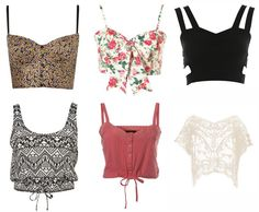 crop top outfits | Topshop | 3, 5 - Miss Selfridge | 6 - Dorothy Perkins