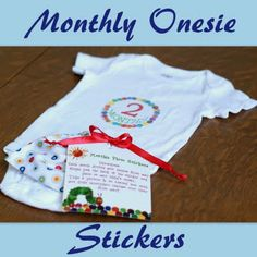 Monthly Onesie Stickers - this is such a cool idea for any new mom! Kinda makes me wish I knew someone who is pregnant at the mo'