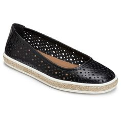 Women's A2 by Aerosoles Trust Fund Perforated Loafers - Black 10.5