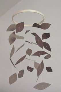 DIY mobile - stars instead of leaf - what supplies are needed