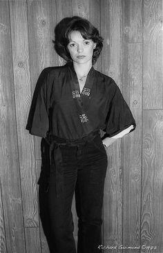Renée Bordeleau, Chambly, Photo by Richard Guimond ©1977 19771019  Nikon F2a 105mm f2.5 2x Honeywell Strobonar 202, Tri-X D-76 105mm, Tri, Domestic Goddess, Nikon, Things To Think About, Mens Tops, Photos, Pictures