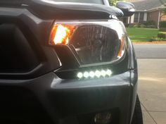 led drl drilled into bumper