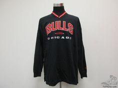 Vtg 90s Lee Sport Chicago Bulls Long Sleeve Heavy Shirt sz XL SEWN NWT Black NBA #LeeSport #ChicagoBulls
