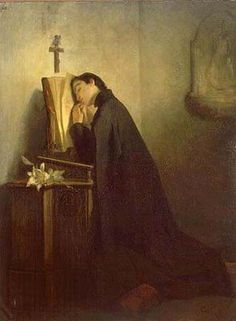 """This is my rest for ever and ever, here will I dwell for I have chosen it."" ~ San Luigi Gonzaga, painting by Eleuterio Pagliano"