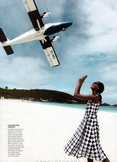 Joan Smalls by Patrick Demarchelier for Vogue US April 2013 on #StBarths #StBarts St Jean Beach.