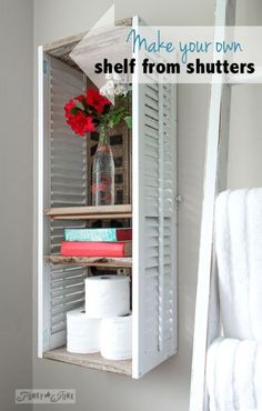 How to make a shelf from an old shutter | eBay [follow my board for more ideas]