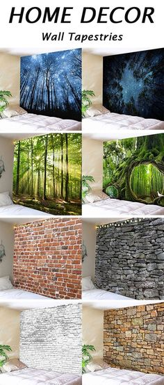 Bedroom decor ideas for old wall:nature and stone print Wall Tapestries
