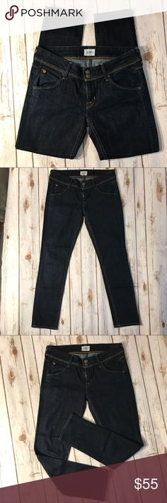 """Hudson dark jeans Hudson Skinny dark jeans size 26. No rips or stains. In good condition. Measurements for flat lay: waist( 26"""") outseam (35.5"""") inseam (27"""") Hudson Jeans Jeans Skinny"""