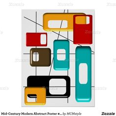 Mid-Century Modern Abstract Poster #41