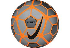 Nike Strike Soccer Ball - Grey and Orange. Shop for yours at www.soccerpro.com today!