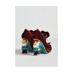 Irregular Choice Quirky When ($174) ❤ liked on Polyvore featuring shoes, heels, red, t-strap heel, red shoes, shiny shoes, red velvet shoes, red polka dot shoes and velvet shoes