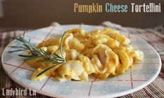 Ladybird Ln: Cheese Tortellini's with Pumpkin Sauce, This is a really yummy recipe, your kids will love, at least mine did!