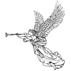 Shop for IndigoBlu Cling Mounted Stamp 3 - Angel - Dinkie. Body Art Tattoos, Sleeve Tattoos, Angel Vector, Kawaii Tattoo, Paper Quilling Jewelry, Angel Drawing, Byzantine Art, Magic Art, Religious Art
