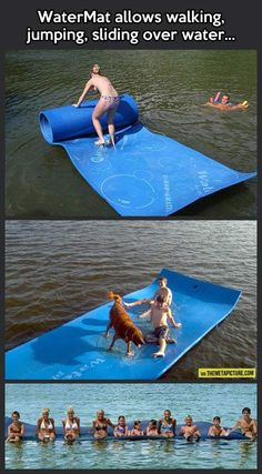 Summer Fun: Water Toys Shut up and take my money! Objet Wtf, Vw Camping, Beach Camping, Camping Ideas, Tent Camping Beds, My Pool, Pool Mat, Take My Money, Cool Inventions