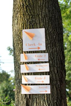 """Photo 1 of 25: An Orange Airplane Party / Birthday """"Up, up and away...."""" 