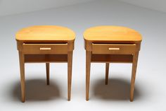 Art Deco Birch Bedside Tables