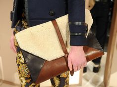 Fall 2012 Accessories Roundup by W Editors  J.Crew mixed suede and shearling clutch-William Kahn, Accessories Editor's pick  As seen on: wmagazine.com