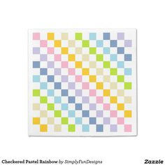 Checkered Pastel Rainbow Napkin