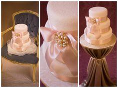 Simply Sparkles Blush Pink & Gold Wedding Cake www.macakecompany.co.uk