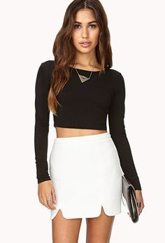 Retro M-Slit Skirt | FOREVER21 - 2031558214