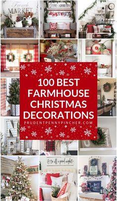 100 best farmhouse christmas decorations christmas christmasdecorations outdoor christmas christmas fun farmhouse