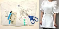 Schlichtes, weiße T-Shirt aufpeppen