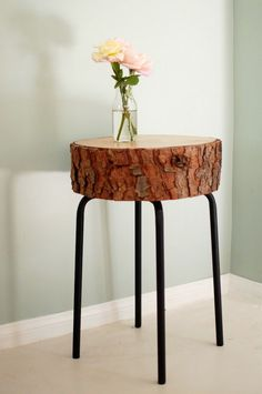IKEA hack   $5 stool and free piece of wood