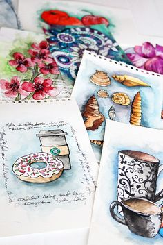 Alisa Burke ~ fabulous card ideas in these basic pen and wash images! Take it and run!