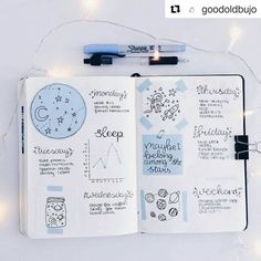 "Gefällt 1,212 Mal, 3 Kommentare - Bullet Journal Inspire (@bujoinspire) auf Instagram: ""#Repost @goodoldbujo (@get_repost) ・・・ last week's spread with notes and things to do excuse my…"" bullet journal how to start a simple"