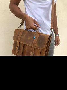 Brown Leather Messenger Bag, Leather Bags, Briefcase For Men, Leather Briefcase, Laptop Bag, Bag Making, Greece, Etsy Shop, Jewels