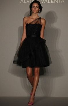LBD Bridesmaid Dress ~ I think this would look nice on all the girls...and a splash of color with the shoes and bouquets would make them pop! They would def have options to wear them again!!!