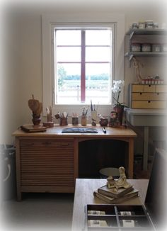 acka Studio Ceramic Art, Corner Desk, Studio, Furniture, Home Decor, Corner Table, Decoration Home, Room Decor, Ceramics