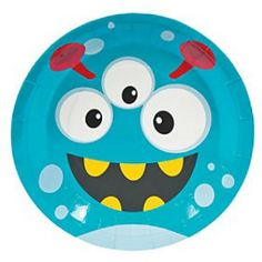 Mini Monster Dinner Plates - 8 Pk Party Supplies Canada - Open A Party