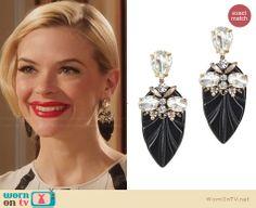 Lemon's black arrowhead earrings on Hart of Dixie.  Outfit Details: http://wornontv.net/29725/ #HartofDixie