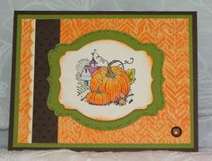 Stampin' Up! Best of Autumn by My Tanglewood Cottage.  Wax Resist Technique