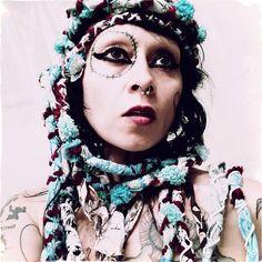 Braided and Tattered Gypsy Headband Ethnic Turban by CrudeThings, $38.00 lana guerra