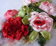 silk roses..they are beautiful!