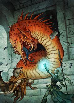 "Illustration from the role playing game ""Drakar och Demoner"""