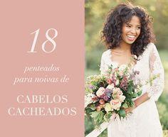 Penteados para noivas de cabelos cacheados - cabelos soltos para casamento estilo boho