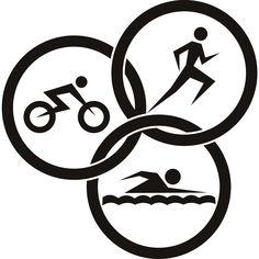 Triathlon Circles Athletics Wall ART Sticker Wall Decals Transfers ... - ClipArt Best - ClipArt Best